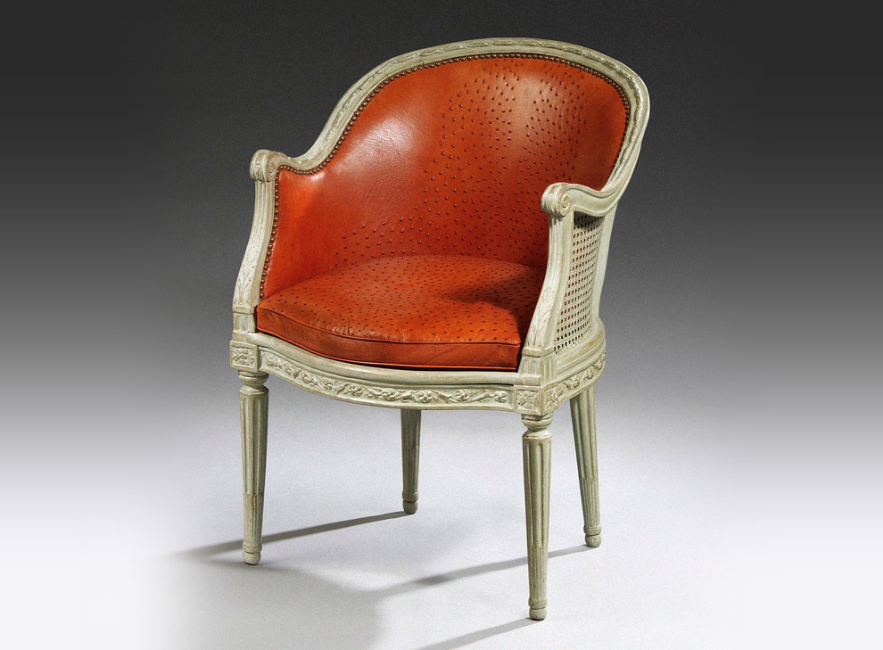 Ralph gierhards cr me farbender louis xvi sessel in for Sessel creme