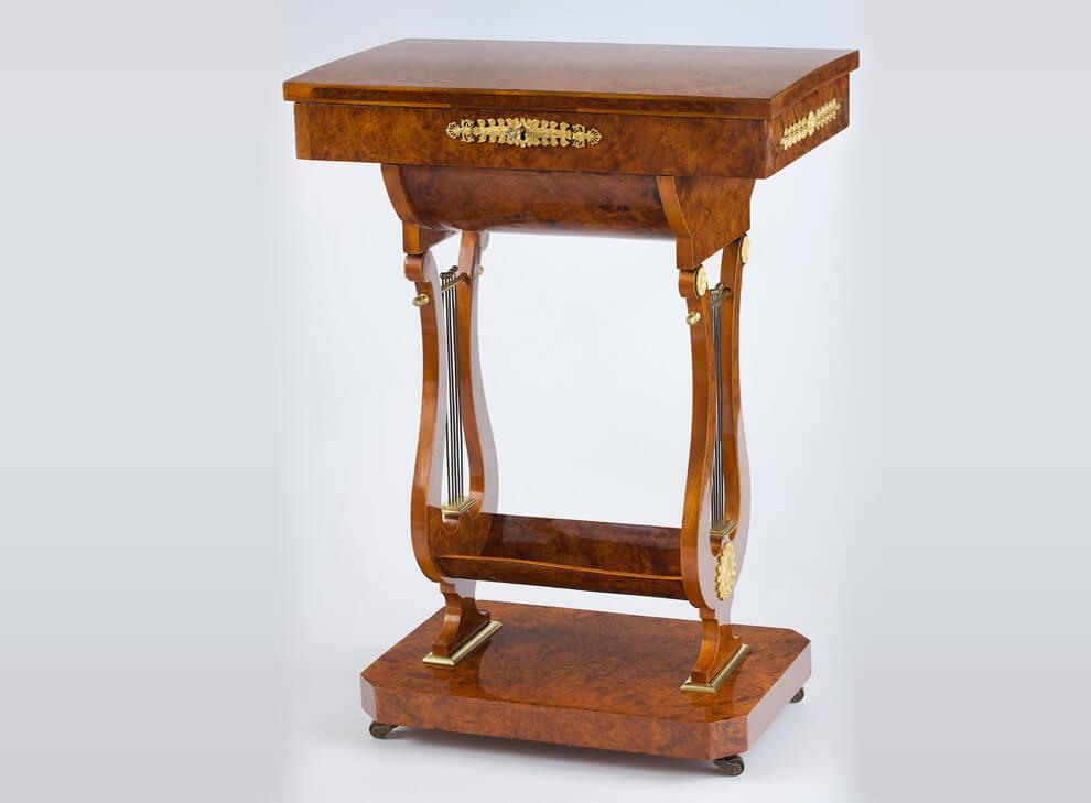 ralph gierhards seltener aufklappbarer n htisch in lyraform ralph gierhards. Black Bedroom Furniture Sets. Home Design Ideas