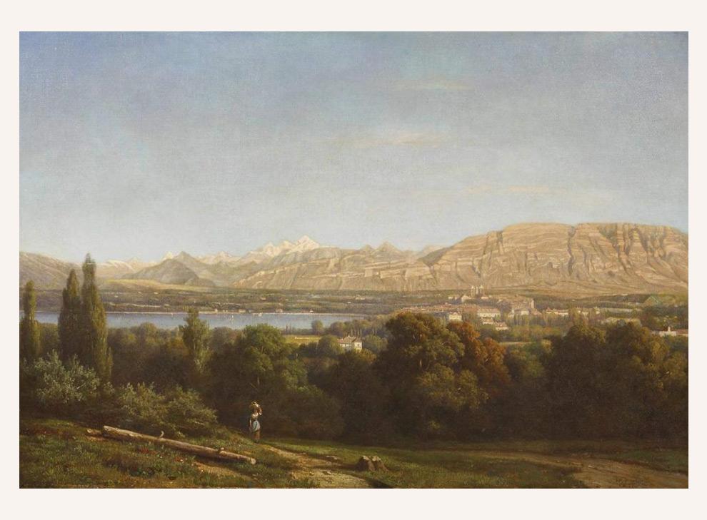 Blick auf Neuchâtel am Neuenburgersee