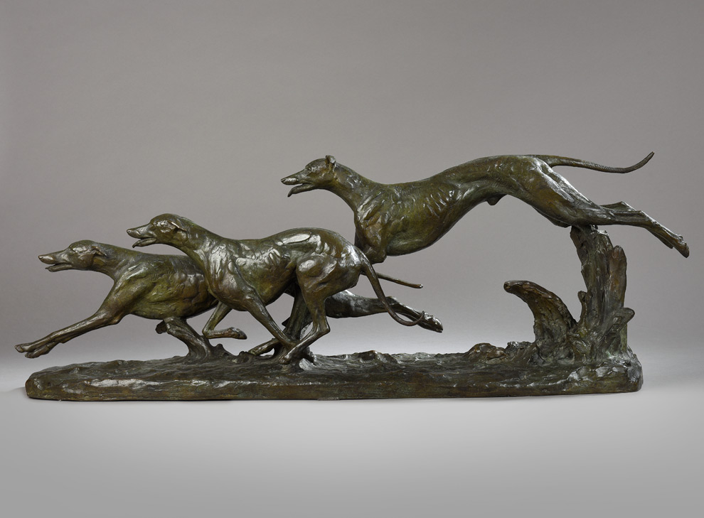 Skulptur Windhunde