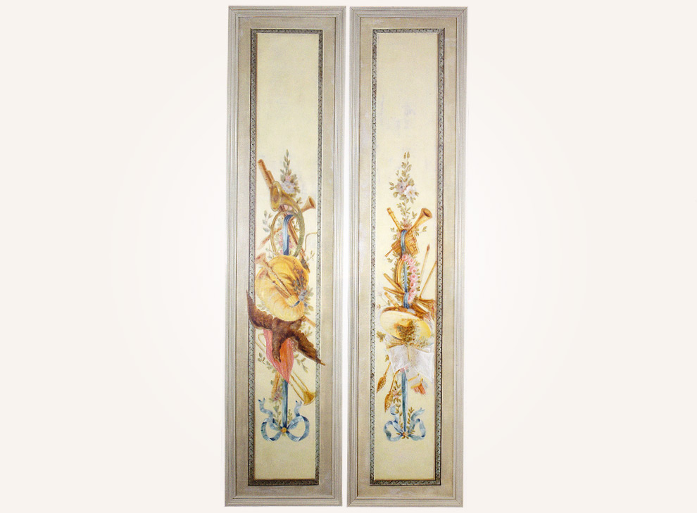 A set of German Louis XVI wall hangings
