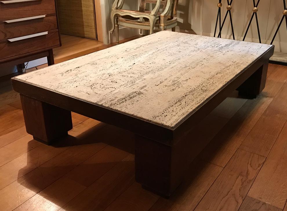 Table basse Art Déco en chêne
