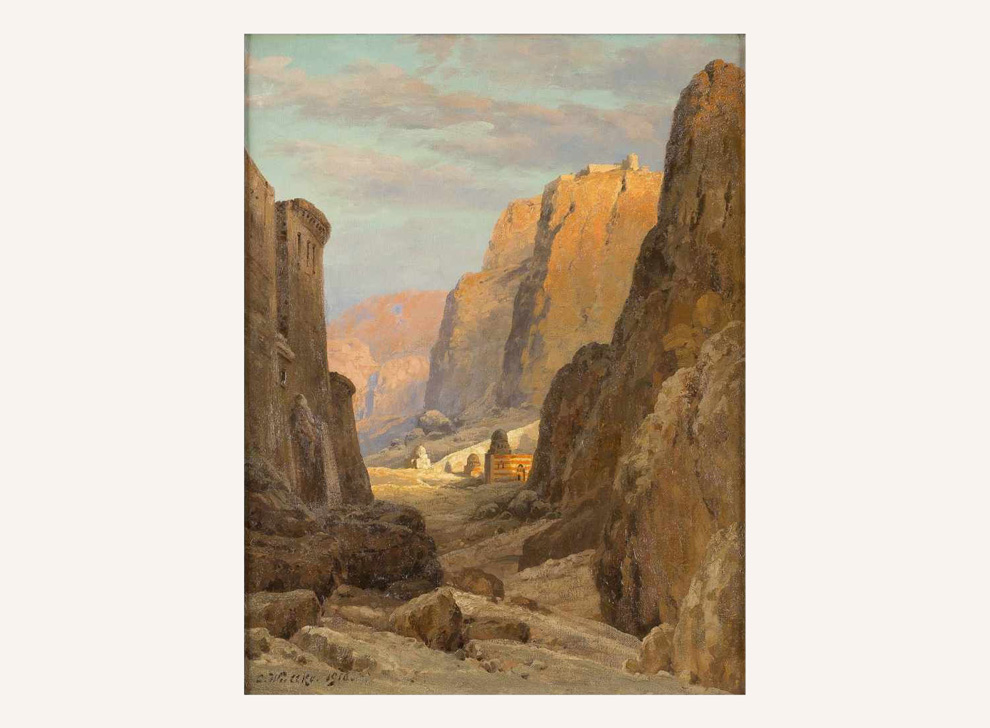 View of St. Catherine's Monastery at the foot of Mount Sinai