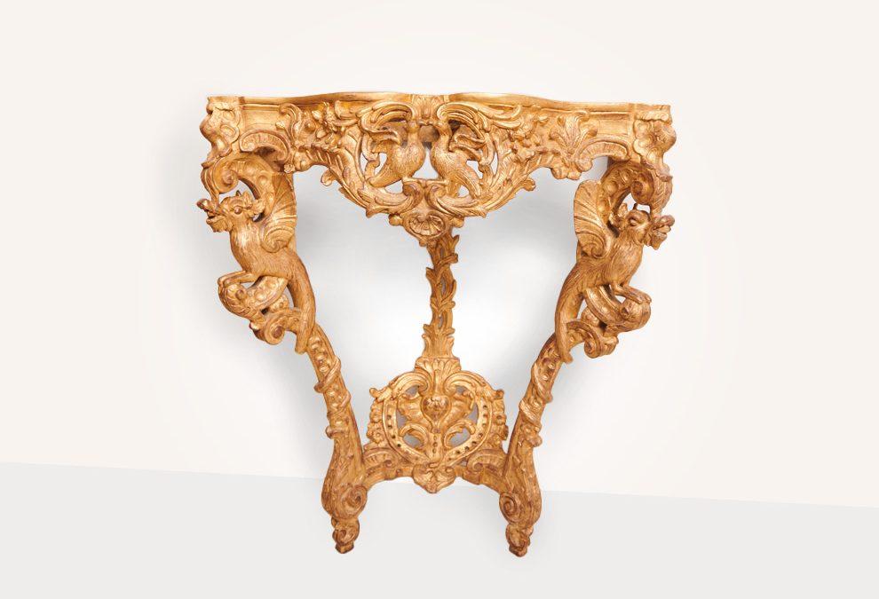 Console régence en bois doré