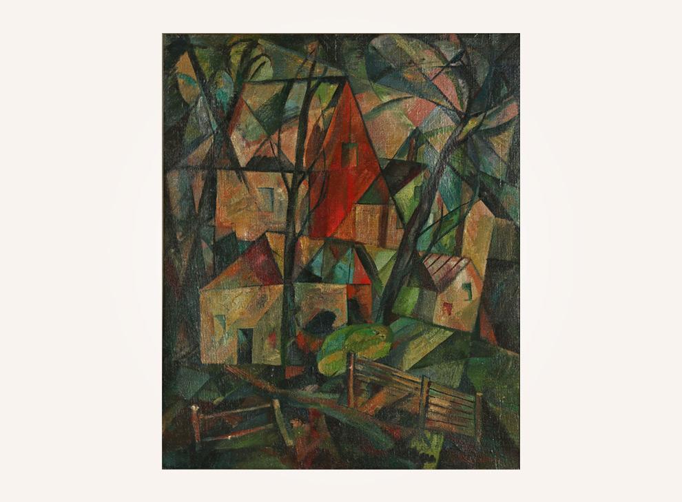 Kubistische Landschaft