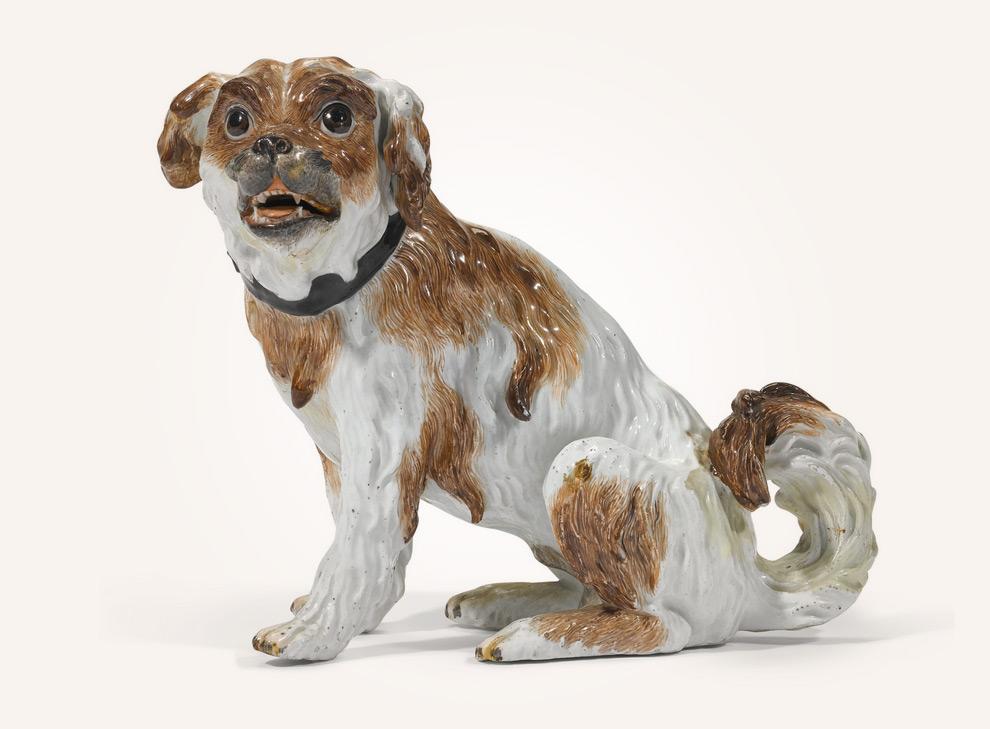 Ein Meissen Porzellan Terrier