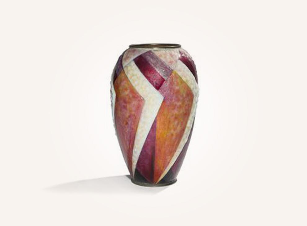 Große eiförmige Vase mit Ringhals