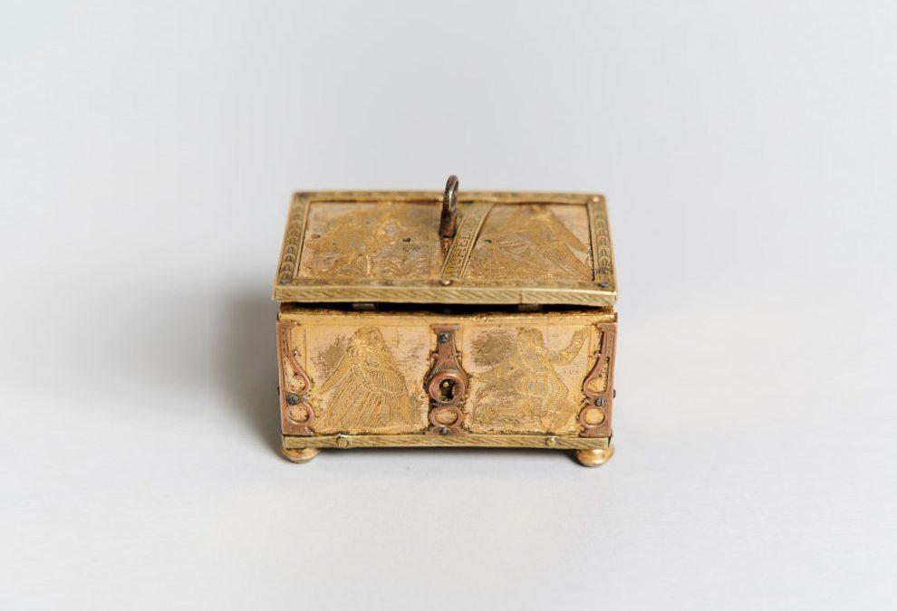 Seltenes, frühbarockes Michel-Mann-Kästchen