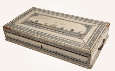 "An anglo-indian ""Vizagapatam"" ivory work box"