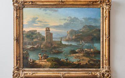 Bambocciant, Port scene with figures