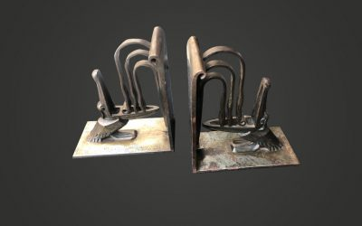 "A pair of bookends ""Pelicans"""
