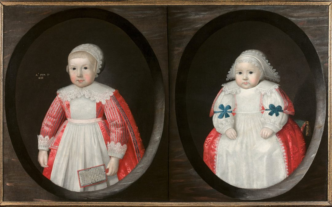 An English 17th century portrait of two young children